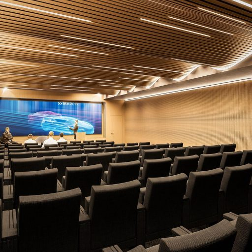 auditorium grand ecran plafond vague