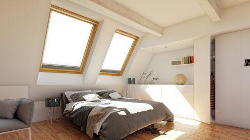 chambre velux lit armoir 3d