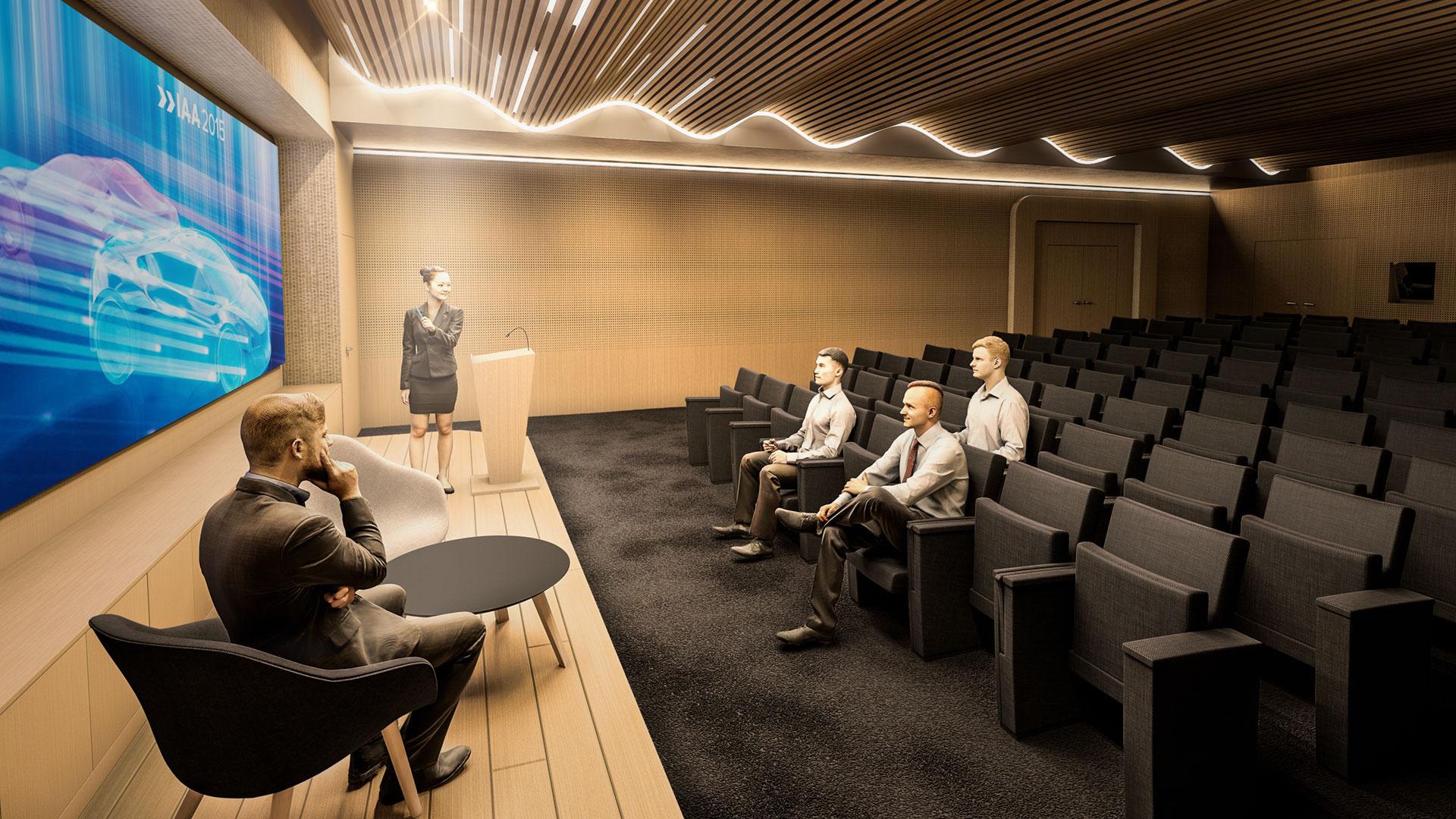 auditorium 3d bois