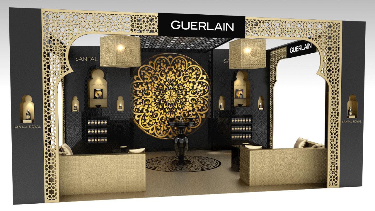 Scénographie 3d Dexposition Pour Guerlain Studio 3d événementiel