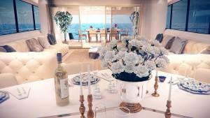 mobilier luxe fleur mer