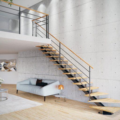 Escalier mur béton intérieur moderne