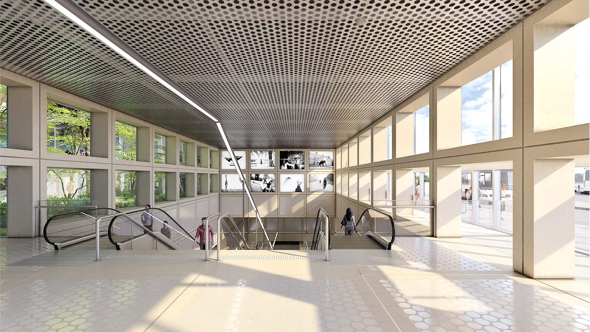 Métro de Lyon - Architecture 3D