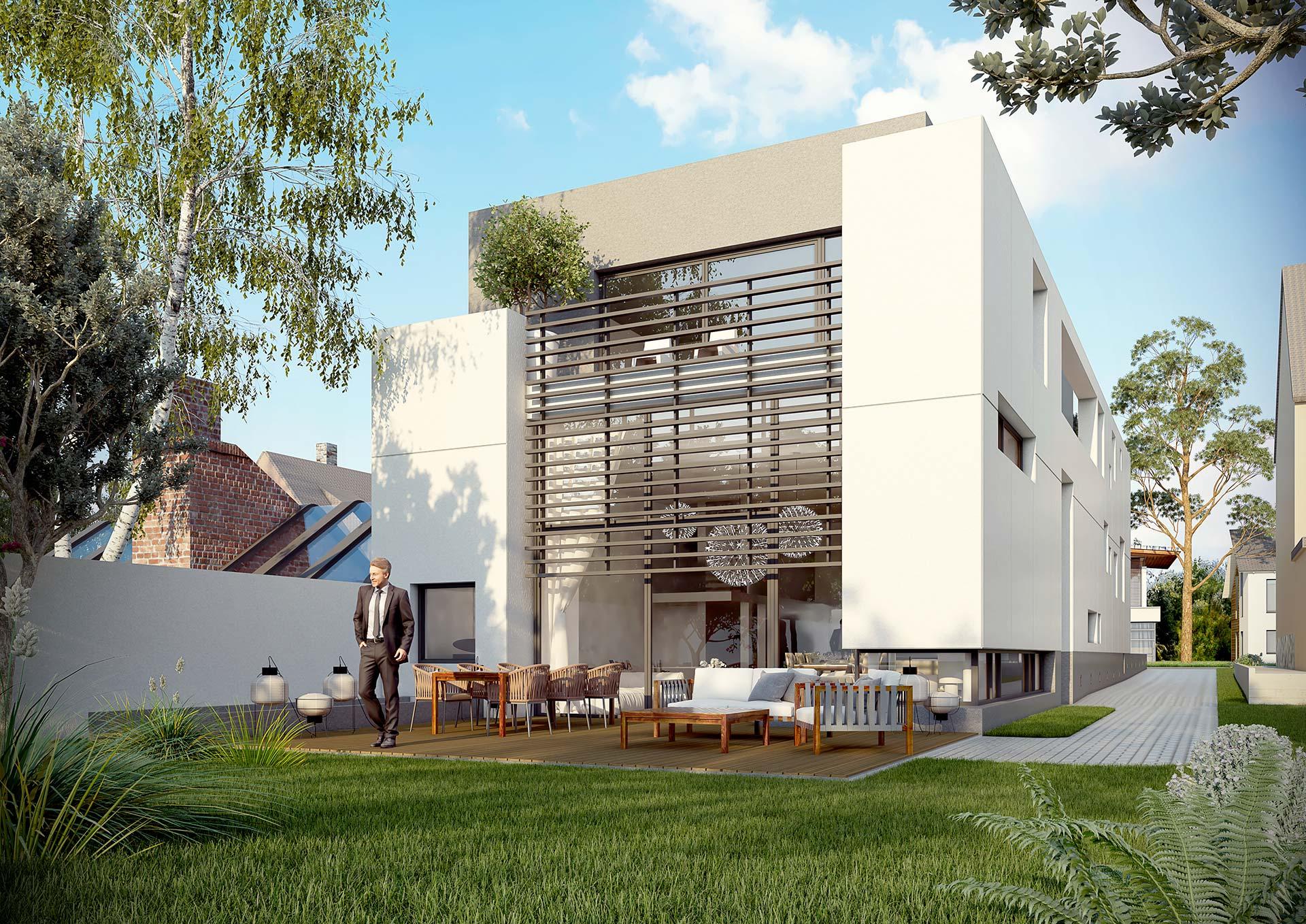 Jardin 3D promotion immobilière