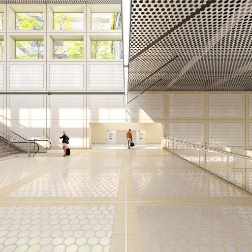 Métro Lyon - architecture - perspective 3D