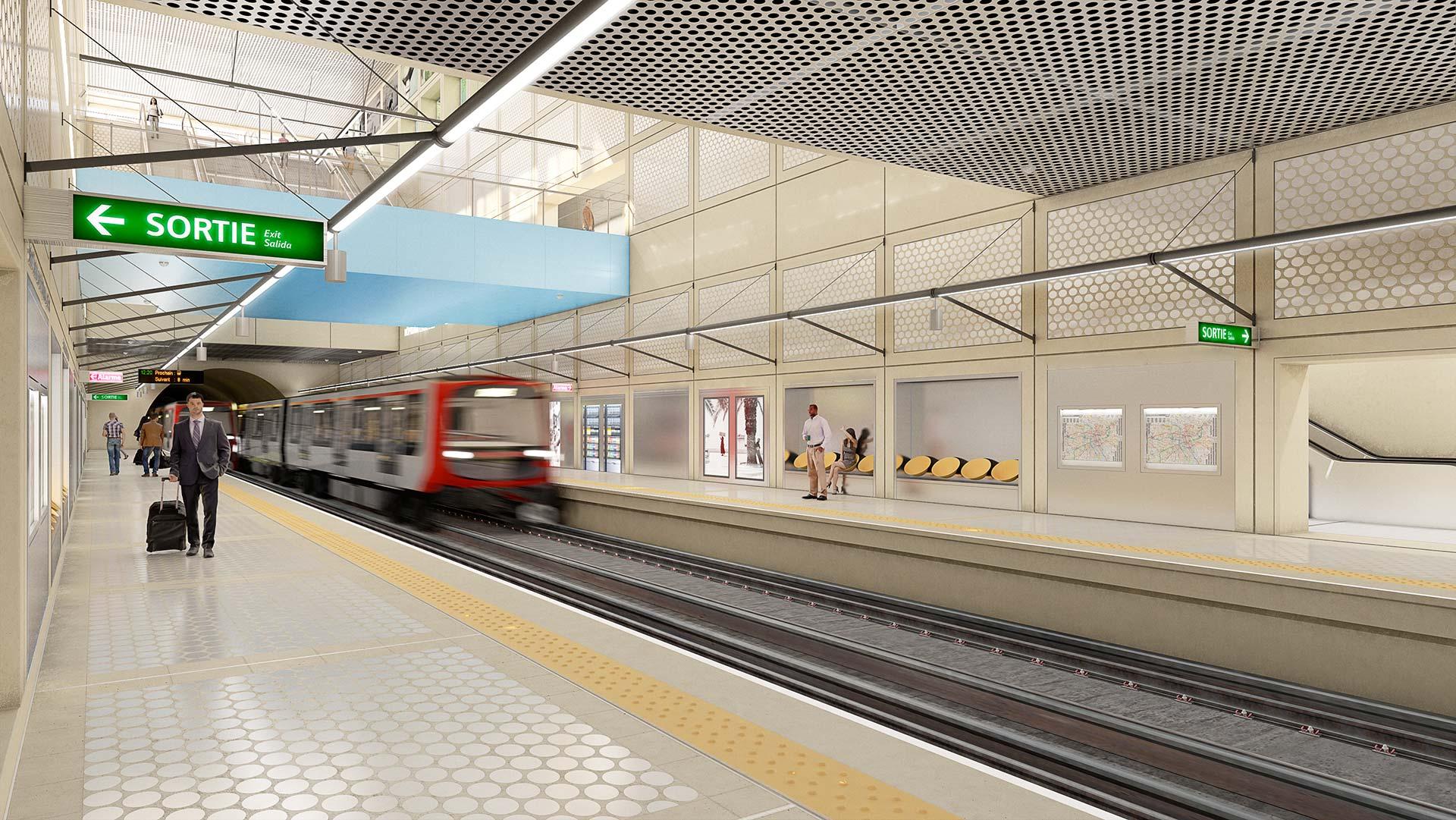 Perspective 3D métro