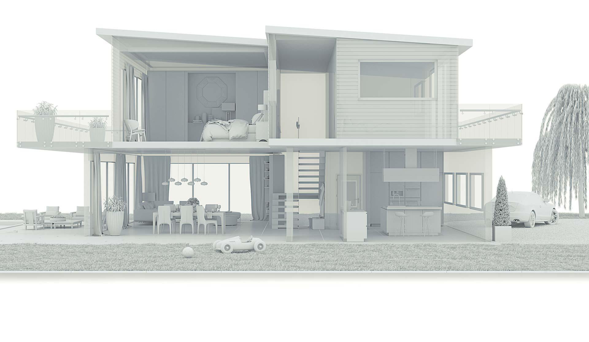 Maison d'architecte 3D