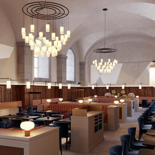 Architecture intérieur du Grand Réfectoire