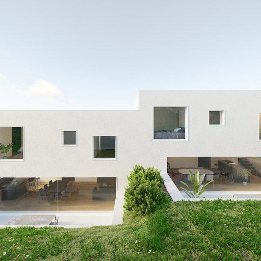Villa d'architecte visuel 3D perspective
